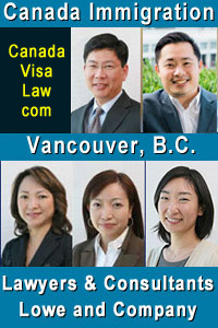 Robert C.Y. Leong, LLB; Stan Leo, JD, Vivien Lee, Consultant, Rita Cheng, Consultant, and Akiko - Business immigration team - click to CanadaVisaLaw.com