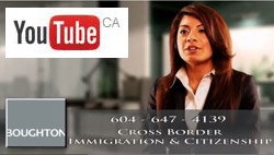 photo of Saba Z. Naqvi, JD BC & California attorney talking about aspects of Business Immigration law on a recorded live Vancouver radio program - click to YouTube